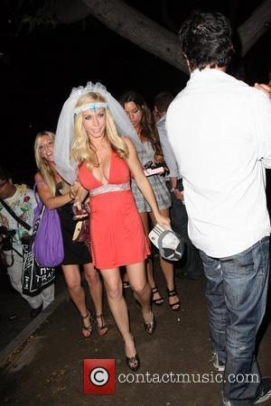 Kendra Wilkinson leaves Guys and Dolls nightclub wearing a veil Los Angeles, California - 18.06.09
