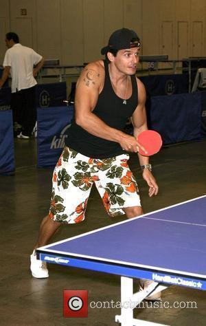 Antonio Sabato Jr HardBat Classic Table Tennis Tournament at The Palazzo Resort Hotel Casino where the winning prize was $100,000...