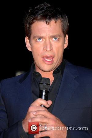 Harry Connick Jr. surprised guests at an AOL client dinner as part of Advertising Week held at 620 Loft &...