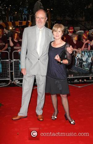 Jim Broadbent and Anastasia Lewis World Premiere of Harry Potter And The Half Blood Prince at the Empire Leicester Square...
