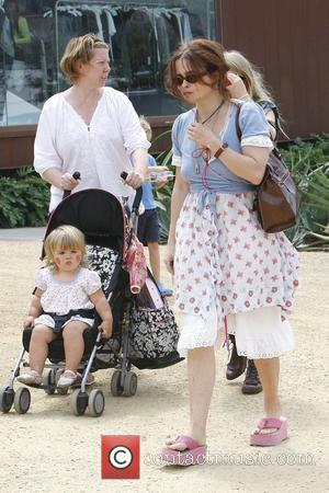 Helena Bonham Carter takes her baby daughter, Nell, out for a stroll in Malibu Los Angeles, California - 21.08.09