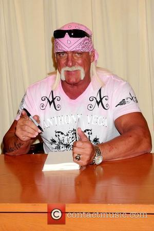 Hulk Hogan signs copies of his new book 'My Life Outside the Ring' at Barnes & Noble Booksellers Fifth Ave...