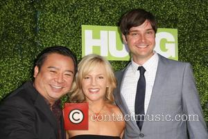 Rachael Harris and Rex Lee