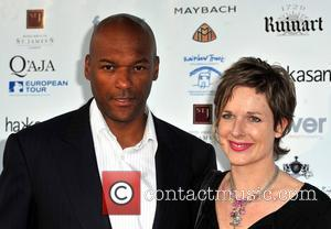 Colin Salmon and wife 'Shooting Stars in Desert Nights' charity benefit held at The Hurlingham Club London, England - 11.06.09