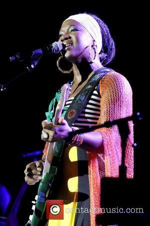 India Arie performing live at the Greek Theatre as the opening act for John Legend  Los Angeles, California -...