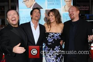 Ricky Gervais, Jennifer Garner and Rob Lowe