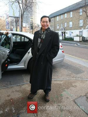 George Takei outside the ITV studios London, England - 26.11.09