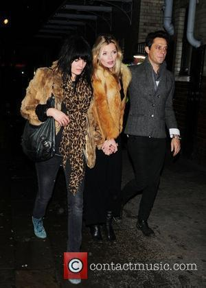 Kate Moss and Jamie Hince Leaving J Sheekey Restaurant With A Friend