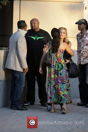 Jermaine Jackson, Damon Elliott, Halima Rashid and Shawn King visit a luxury condo open house at The Carlyle in Westwood....