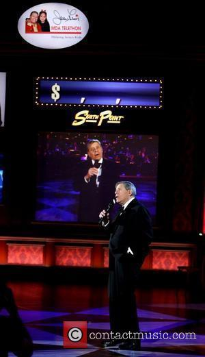 Jerry Lewis The 44th Annual Jerry Lewis MDA Telethon held at South Point Hotel Casino and Spa Las Vegas, Nevada...