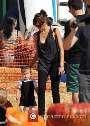Jessica Alba, And Husband Cash Warren Take Their Daughter, Honor Marie and To Mr Bones Pumpkin Patch In West Hollywood