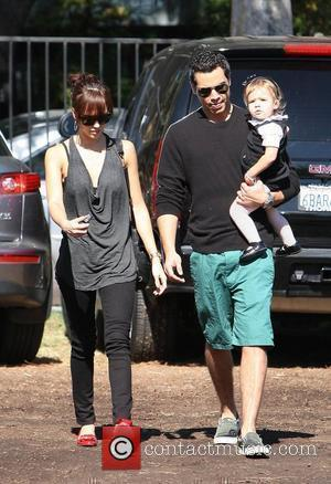Jessica Alba, husband Cash Warren take their daughter, Honor Marie and to Mr Bones pumpkin patch in West Hollywood