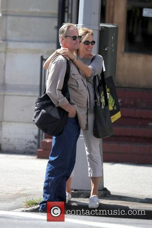 Jessica Lange and Sam Shepard walk arm-in-arm through Soho New York City, USA - 02.09.09