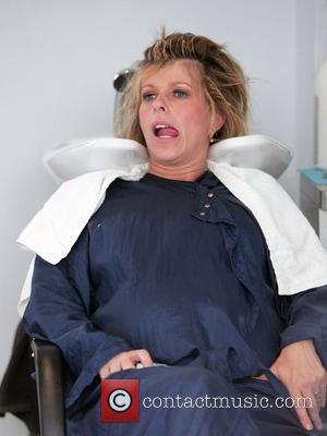 A heavily pregnant Kate Garraway visits the hairdressers  London, England - 15.07.09