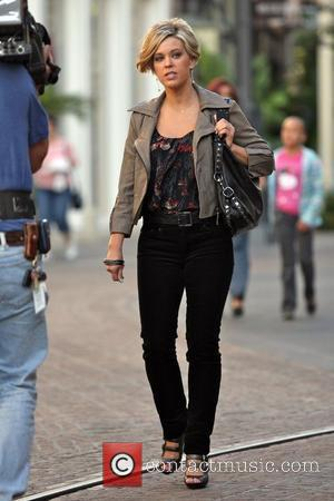 Kate Gosselin seen shopping at The Grove while being filmed for her reality television show, 'Kate Plus 8' Los Angles,...