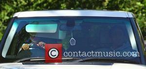 Katie Price and Alex Reid Driving In Katie's Range Rover
