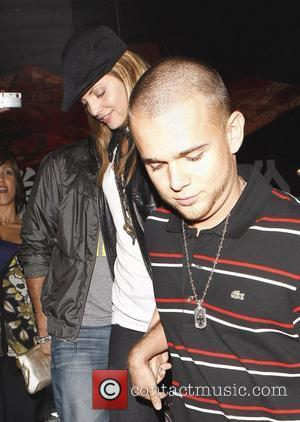 Mena Suvari and Her Fiance Simone Sestito Leaving Katsuya Where They Dined With Friends
