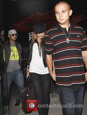 Mena Suvari and Her Fiance Simone Sestito Leaving Katsuya Where They Dined With Sestito's Close Pal Sean Paul