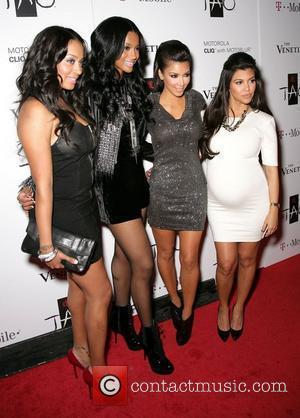 Lala Basquez, Kim Kardashian and Kourtney Kardashian