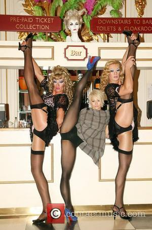 Pussycat Dolls member Kimberly Wyatt lines up with Cage aux Folles 'Cagelles' for her 'bring your heels' dance masterclass in...