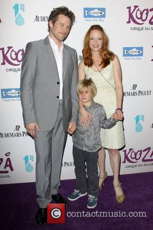 Anne Heche and boyfriend James Tupper and Son attending KOOZA, the big top touring show from Cirque du Soleil which...