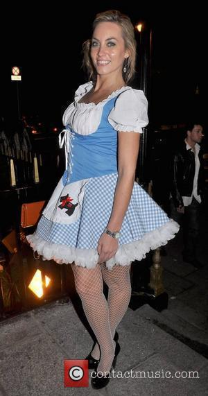 Kathryn Thomas arrives to the Halloween Party at Krystle Nightclub  Dublin, Ireland - 31.10.09