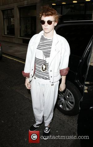 La Roux aka Elly Jackson leaving BBC Radio One studios London, England - 14.06.09
