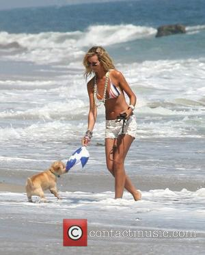 Lady Victoria Hervey and Malibu Beach