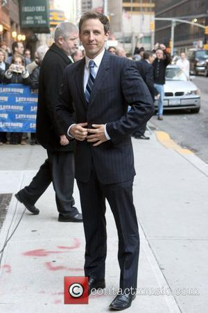 Seth Meyers and David Letterman