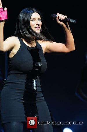 Laura Pausini  performs live at Hard Rock Live at the Seminole Hard Rock Hotel & Casino to launch her...