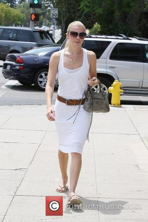 Leann Rimes, Wearing An All White Summer Dress and Makes Her Way To Brentwood Art Center