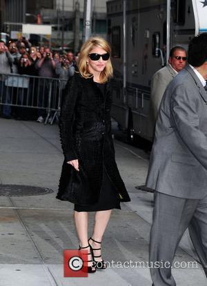 Madonna and David Letterman