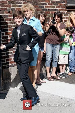 Daniel Radcliffe, David Letterman and Ed Sullivan Theatre