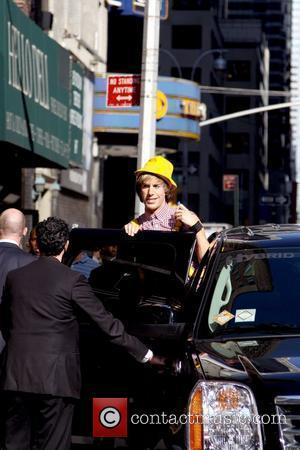 Sacha Baron Cohen, David Letterman and Ed Sullivan Theatre