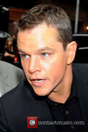 Matt Damon and David Letterman