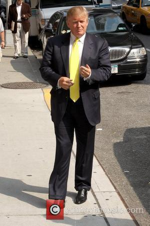 Donald Trump outside the Ed Sullivan Theatre for the 'Late Show With David Letterman'  New York City, USA -...