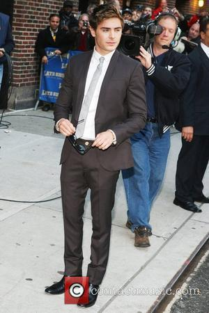 Zac Efron and David Letterman