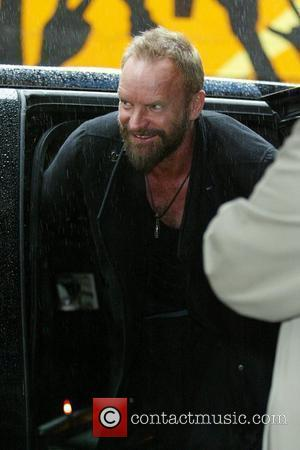 Sting and David Letterman