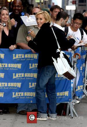 Felicity Huffman and David Letterman