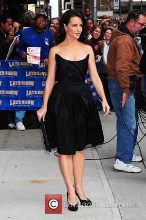 Kristin Davis and David Letterman