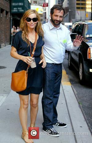Leslie Mann and David Letterman
