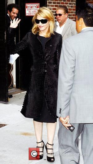 Madonna and David Letterman