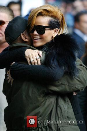 Rihanna and David Letterman