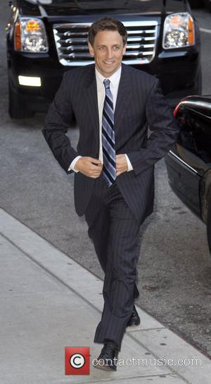 Seth Meyers visits 'Late Show with David Letterman' at the Ed Sullivan Theater  New York City, USA - 16.11.09