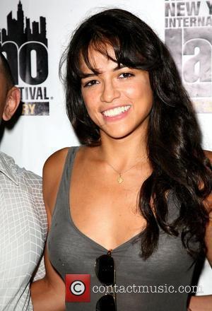 Michelle Rodriguez The 10th New York International Latino Film Festival (NYILFF) - 'Los Bandoleros' premiere at the School of Visual...