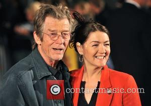 John Hurt and Ann Rees Meyers The Times BFI London Film Festival: Men Who Stare At Goats - gala screening...
