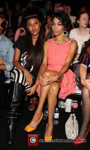 VV Brown, Michelle Williams 25th anniversary London Fashion Week Spring/Summer 2010 - Ashish show - front row London, England -...