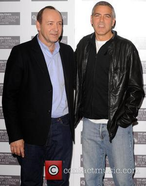 George Clooney and Kevin Spacey  The Times BFI London Film Festival: Men Who Stare At Goats - gala screening...
