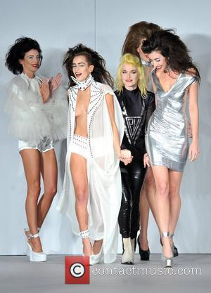 Alice Dellal, Pam Hogg and Daisy Lowe