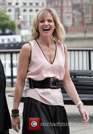 Linda Barker during a break from filming for 'This Morning' London, England - 13.07.09